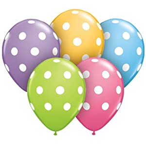 Amazon.com: Assorted Polka Dot Balloons Package of 50: Kitchen