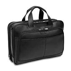 Hartmann Capital Leather Double Compartment Expandable Briefcase