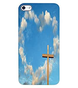 ColourCraft Jesus Cross Design Back Case Cover for APPLE IPHONE 4S