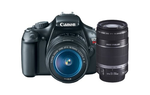 Canon EOS Rebel T3 12.2 MP CMOS Digital SLR with 18-55mm IS II Lens + Canon EF-S 55-250mm f/4.0-5.6 IS Telephoto Zoom Lens
