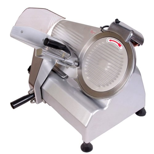 """Sanven Food And Meat Slicer 10"""" Blade Big Sliced Meat Exit Behind The Machine For Slice Meat Sliding Out Quickly"""