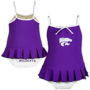 Kansas State Wildcats Toddler Girls 1-Piece Swimsuit - Cheerleader in Training