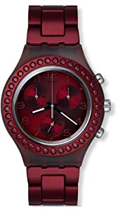 Swatch Women's Irony SVCR1000AG Red Stainless-Steel Swiss Quartz Watch with Red Dial