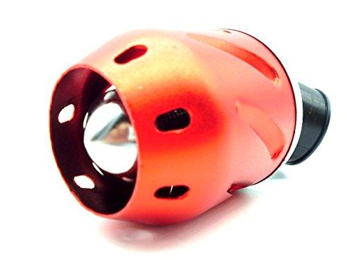 汎用 カスタム パワー エア フィルター クリーナー φ 35 mm ライブディオ ZX  AF34  AF35 (1 赤)