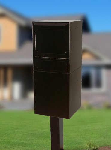 dVault Full Service Locking Mailbox, Copper Vein Post/Column Mount Delivery Vault, Box and Center Mount In-Ground Post Kit, DVU0050PI-5-KIT, Copper Vein