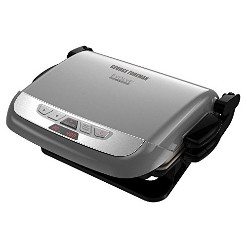 George Foreman GRP4842P 3-in-1 Multi-Plate Evolve Grill, Electric Grill, (Panini Press, Grilling, and Waffle Plates Included), Platinum (George Foreman 2 In 1 compare prices)