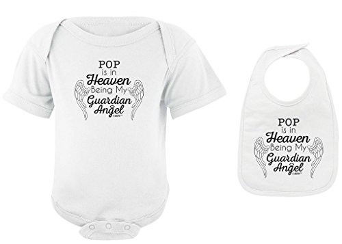 Baby Gifts For All Pop in Heaven Being my Guardian Angel Bodysuit Bib Bundle