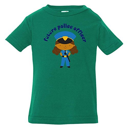 Inktastic Baby Boys' Future Police Officer Girl Baby T-Shirt 12 Months Kelly Green