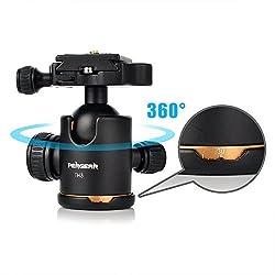 Pergear®Heavy Duty Photography Camera Tripod Ball Head 360 Degree Fluid Rotation Tripod Ballhead For DSLR Camera Quick Release Plate
