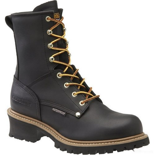 Carolina Boots Men Steel Toe Waterproof Insulated Loggers Ca5823 - Black - 10.5D