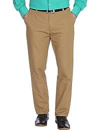 Parx Medium Khaki Men Trouser - B01E5PEU5G