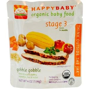 Nurture Inc. (Happy Baby), Gobble Gobble, Stage 3 Meals, (7+ Months), 4 oz (114 g)