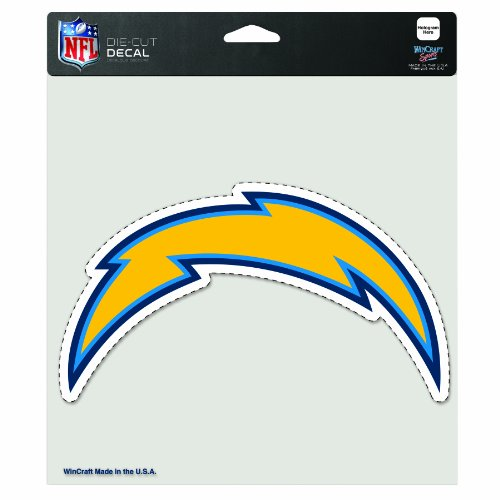 San Diego Chargers Bolt Up: NFL San Diego Chargers 8-By-8 Inch Diecut Colored Decal