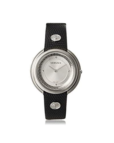 Versace Women's VA7010013 Thea Sunray & Black Leather Watch