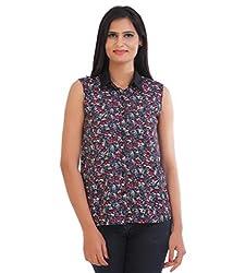 VAAK Women's Printed Shirt 100% Polyester(XS)