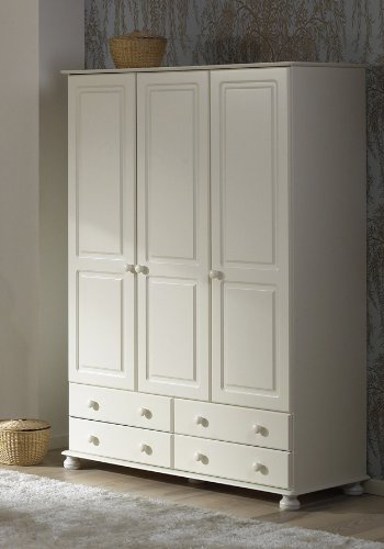 Richmond White Triple Wardrobe