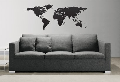 Vinyl Wall Art Decal Sticker World Map Globe Earth Country #131