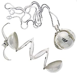 """Sterling Silver 9/16"""" (18 mm) Photo Ball, Locket Pendant For Six Pictures"""