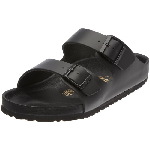 Birkenstock Monterey Smooth Leather, Style-No. 89193, Unisex Clogs, Black, EU 46, slim width