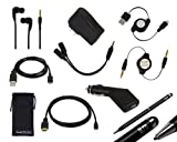 "Bundle Monster 10in1 Amazon Kindle Fire HD 7""+ 8.9"" Accessory Utility Kit -HDMI Cable, AUX Cord, Headphones, Chargers, Stylus"