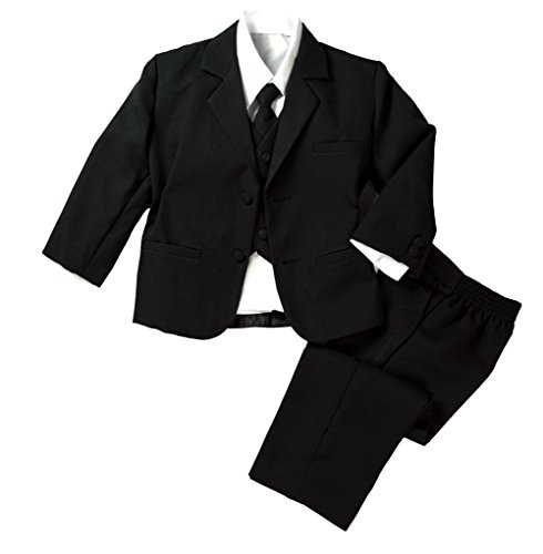 Infant Baby Toddler Boys Formal Black Dress Suit Set 4T