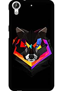 AMEZ designer printed 3d premium high quality back case cover for HTC Desire 626 (abstract wolf)