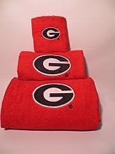 Georgia Bulldogs Embroidered 3-Piece Towel Set
