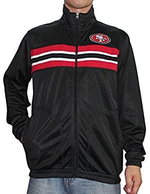SAN FRANCISCO 49ERS NFL Mens Athletic Zip-Up Track Jacket