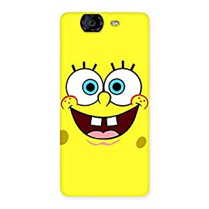 Gorgeous Spong Yellow Back Case Cover for Canvas Knight A350