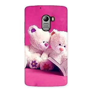 Cute Twin Teddy Multicolor Back Case Cover for Lenovo K4 Note