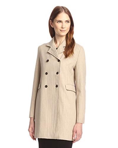 byTiMo Women's Pinstripe Trench Jacket