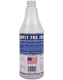 1 Quart DJ Party Event Lighting Fog Juice for Fog Machines USA MADE - Premium Thick Fog Juice (Does not contain Propylene Glycol)