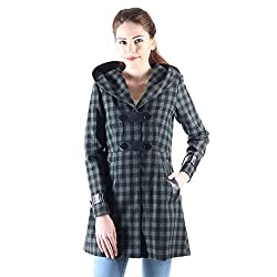 Owncraft hooded wool coat for women