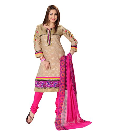 Idha Beige-Pink Straight Fit Zakad Lace Work Festive/Party Wear Readymade Salwar Suits | GC1089