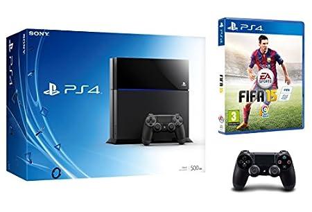 PlayStation 4 - Consola 500 GB (Incluye 2 mandos) + FIFA 15