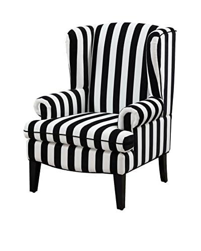 TOV Furniture Paris Velvet Wingback Chair, Grey