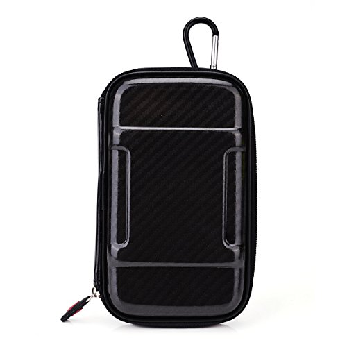 Portable Vape Case Suitable For Áv.I.P. Mini Pen [Slim Black Nylon Semi-Hard Shell] Includes Carabiner Hook For Easy Attachment + Nextdia Cable Tie