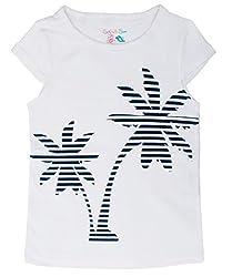 Sofie & Sam London, Kids Girls Tee T - Shirt Top , Blue Tree White