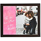Clixicle **Free Customization** Best Mom In The World Photo Collage Poster With Brown Frame, 18 Inches X 12 Inches
