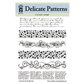 3 Pack CLEAR STAMPS DELICATE PATTERNS Papercraft, Scrapbooking (Source Book)