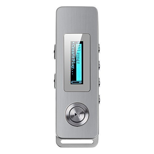 AGPTek® Professionelle 8GB Digitale Diktiergeräte MP3 Geräuschminimierung Mini Diktiergeräte Digital Voice Recorder mit MP3-Player Funktion