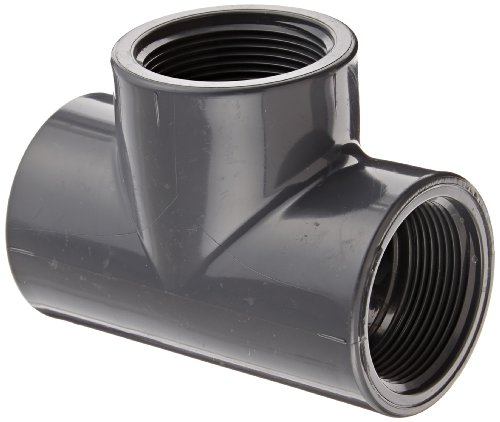 "Spears 805 Series Pvc Pipe Fitting, Tee, Schedule 80, 1-1/2"" Npt Female"