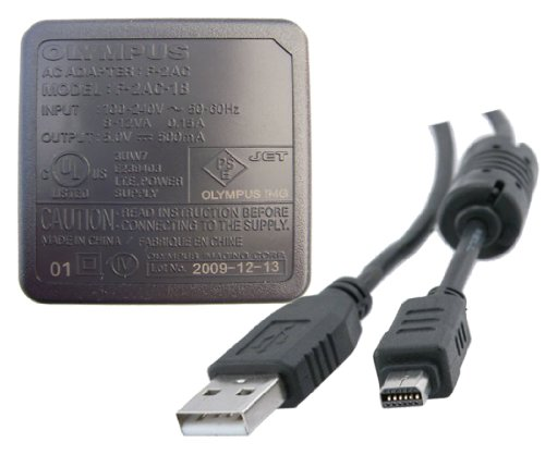 Olympus F-2AC AC Adapter + Usb Cable For TG-310, STYLUS-8010, FE-4020 & More