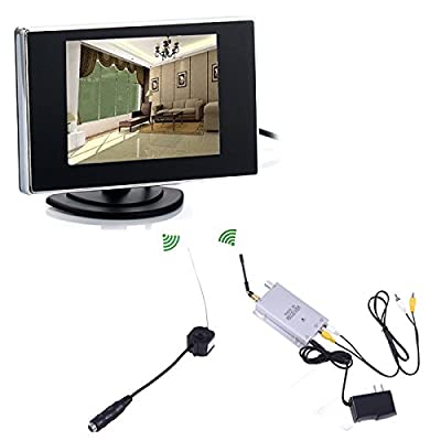 "HDE Mini Pinhole Wireless Nanny Camera CCTV Security Video + 3.5"" LCD Monitor"