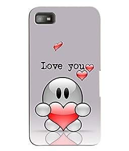 Fuson 3D Printed Valentines Designer Back Case Cover for Blackberry Z10 - D1095