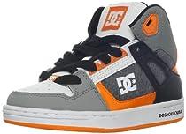 DC Rebound SE Skate Sneaker (Little Kid/Big Kid),Battleship/Pumpkin,3 M US Little Kid