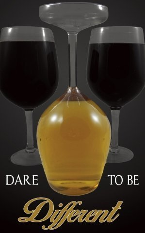 Upside Down Wine Glass Giant ~ Dare to Be Different by AddLiquid