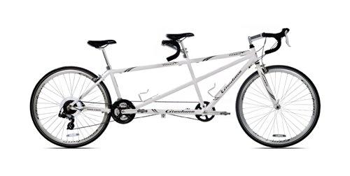 【並行輸入品】Giordano(ジョルダーノ) Viaggio タンデム 自転車(ホワイトパール)+NONOKUROオリジナルグッズの付セット商品