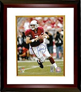 Matt Leinart signed Arizona Cardinals 8x10 Photo Custom Framed- Leinart Hologram by Athlon Sports Collectibles