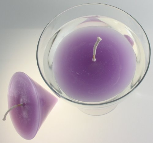 Stera Candles 17900.31048 2-pack of high quality, elegant floating candles, hand cast and coloured, height 15.5 cm; Ø 12 cm; colour lilac